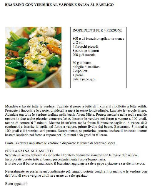 Ricette per forno a vapore arredamento idea biella - Forno a vapore ricette ...