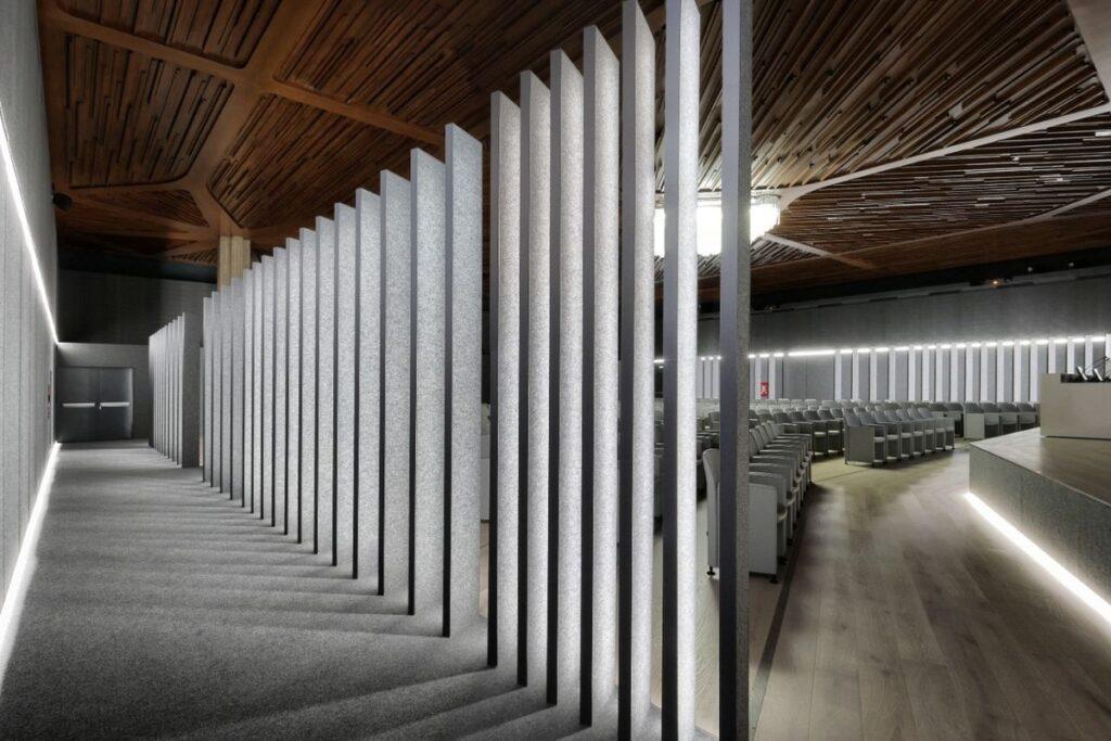 Ingresso sala conferenze biblioteca di Roma